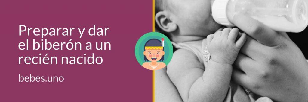 Preparar y dar el biberón a un recién nacido