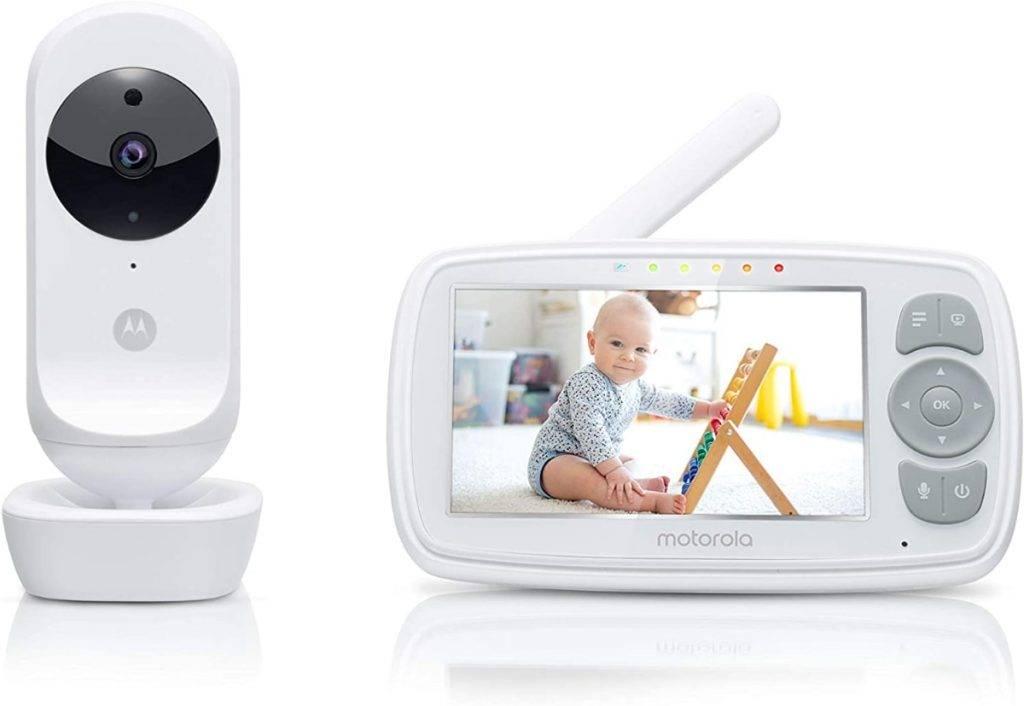 Motorola Baby Ease 34 - Vigilabebés con cámara de video con pantalla HD de 4.3 pulgadas