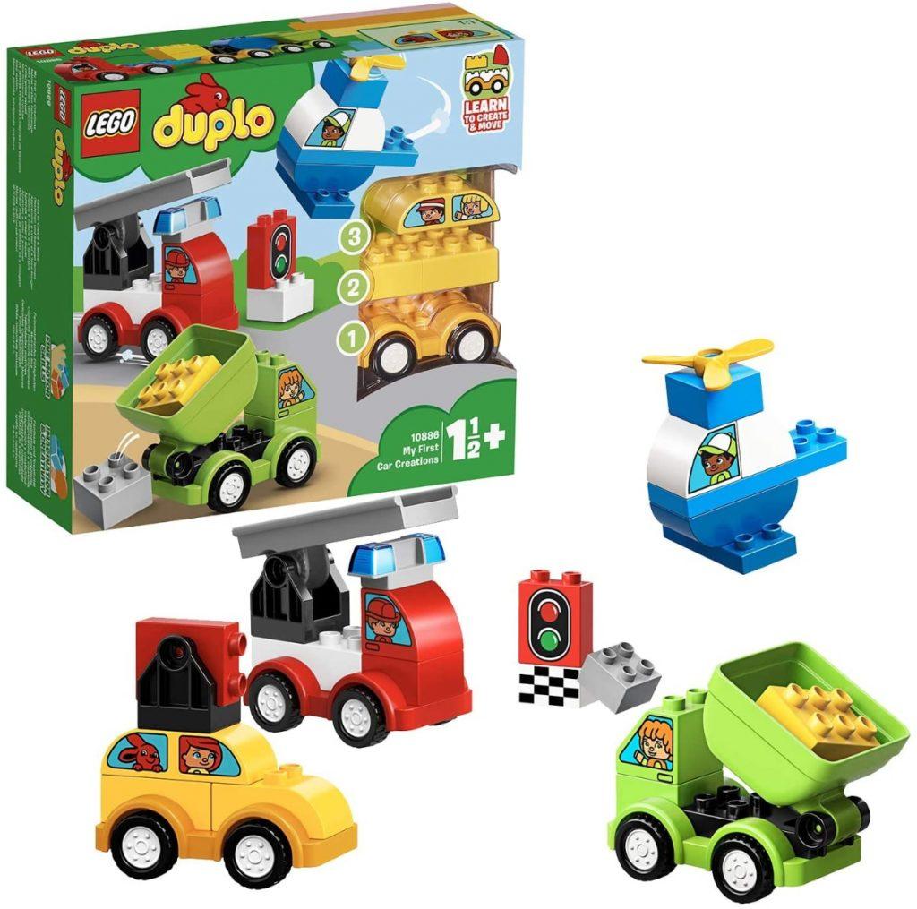 LEGO DUPLO My First - Mis Primeros Coches, Juguete de construcción de 1 a 2 años