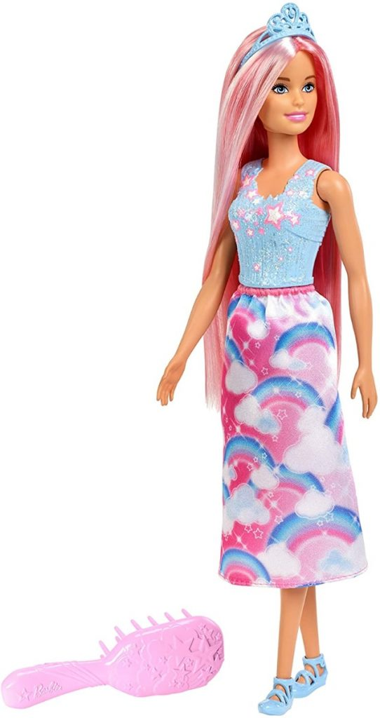 Barbie Dreamtopia Muñeca Peinados Rubia con accesorios