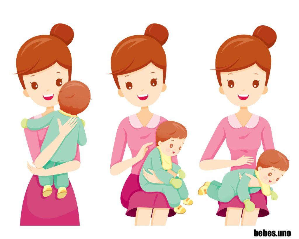 Posiciones para hacer eructar a un bebé